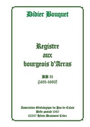 Registre aux bourgeois d'Arras BB 51 1651-1693