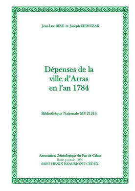 Dépenses de la ville d'Arras en 1784