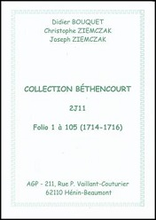 Index Béthencourt 2J11 1714-1716