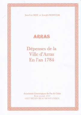 Dépenses de la ville d'Arras 1784