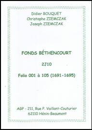 Index Béthencourt 2J10 1699-1708