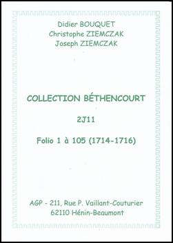 Index Béthencourt 2J11 1716-1718