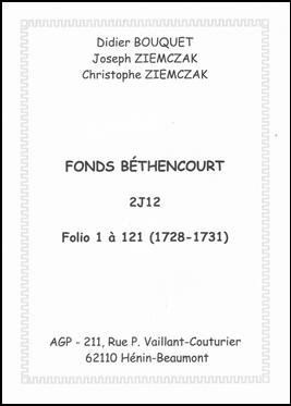 Index Béthencourt 2J12 1735-1738